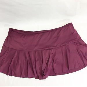 Liz Claiborne Burgundy Swim Skirt Plus Size 24w